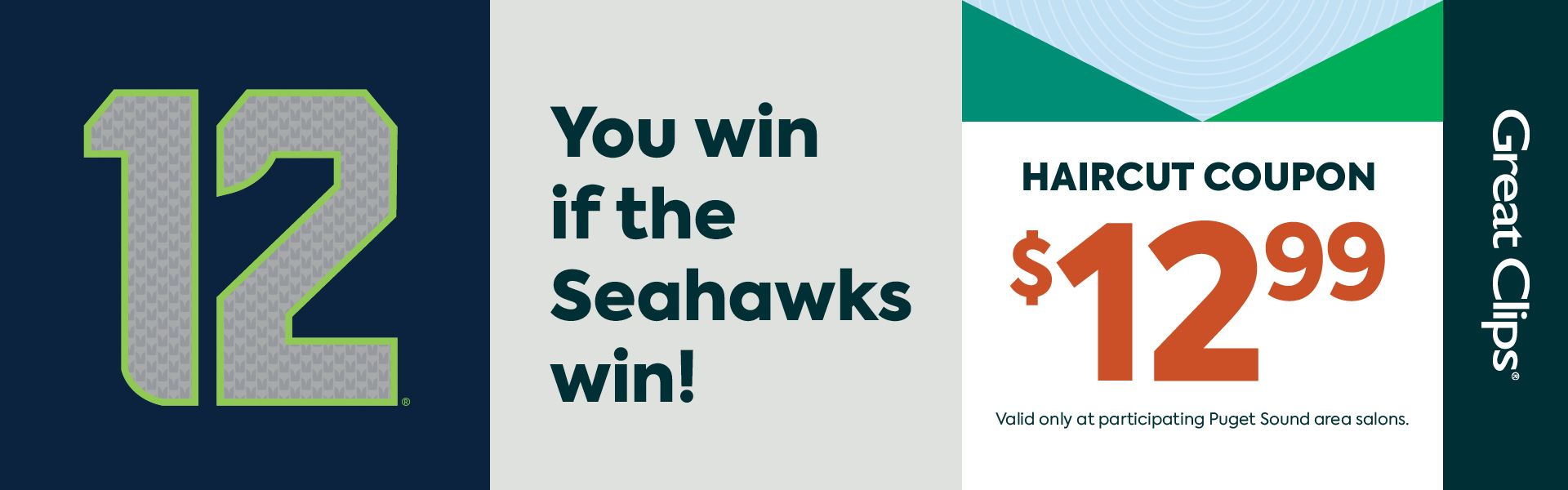 Seahawks Win = $12.99 Haircut