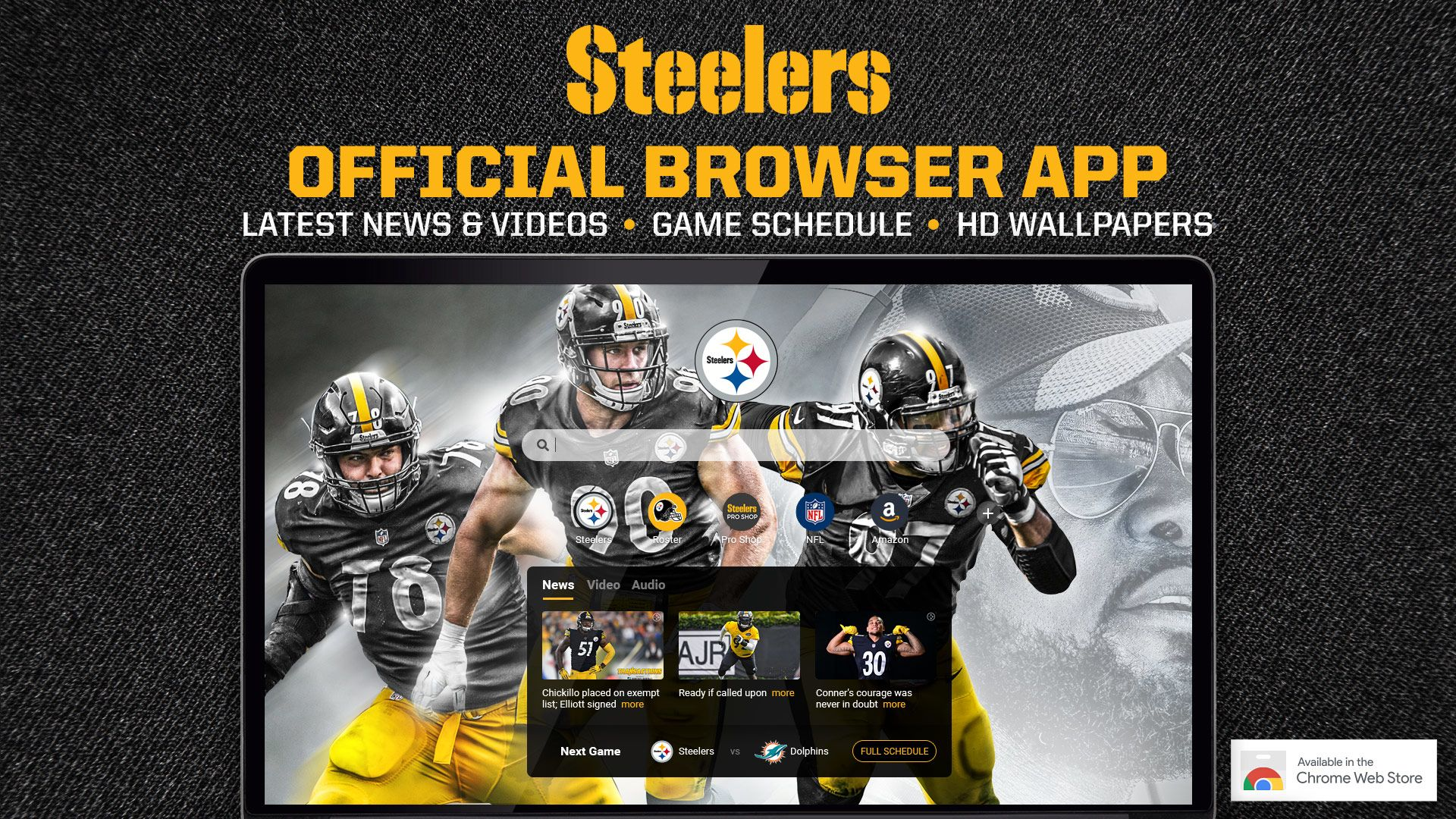 Official Steelers Chrome Browser Extension