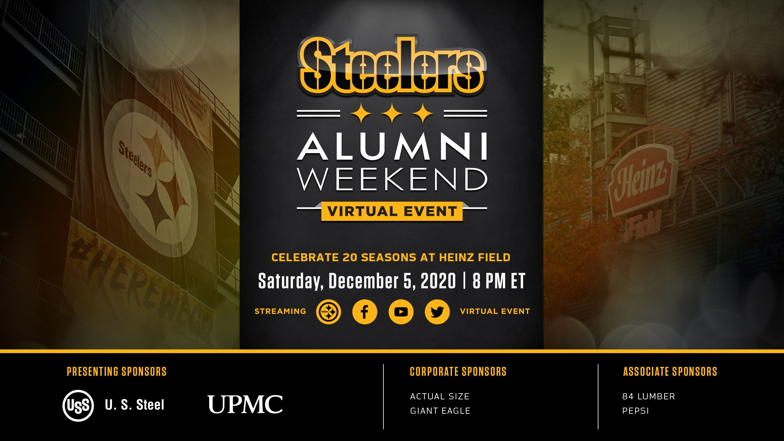 Celebrate Pittsburgh Steelers Alumni and 20 Seasons at Heinz Field