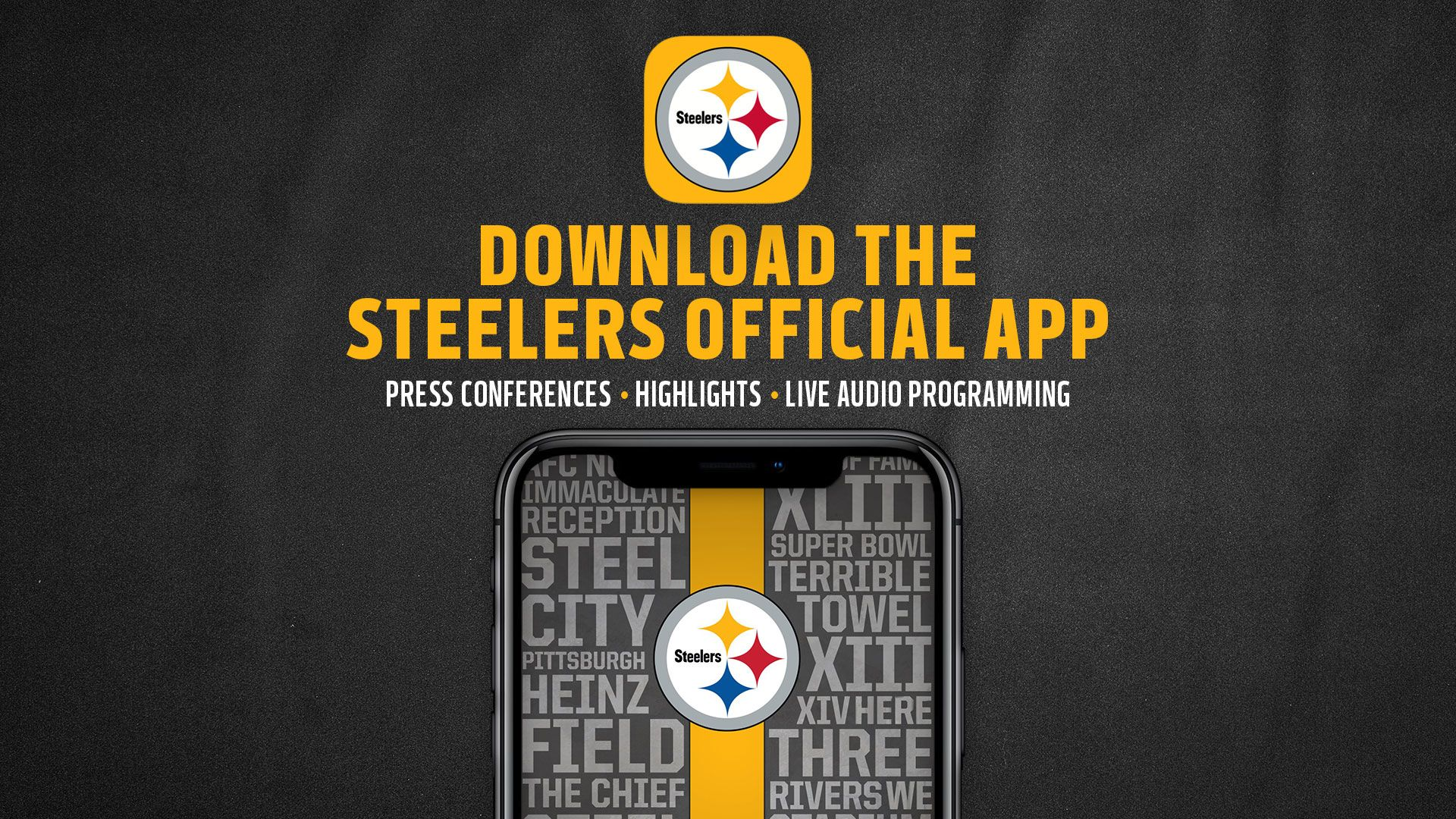 Download the Steelers Official Mobile App