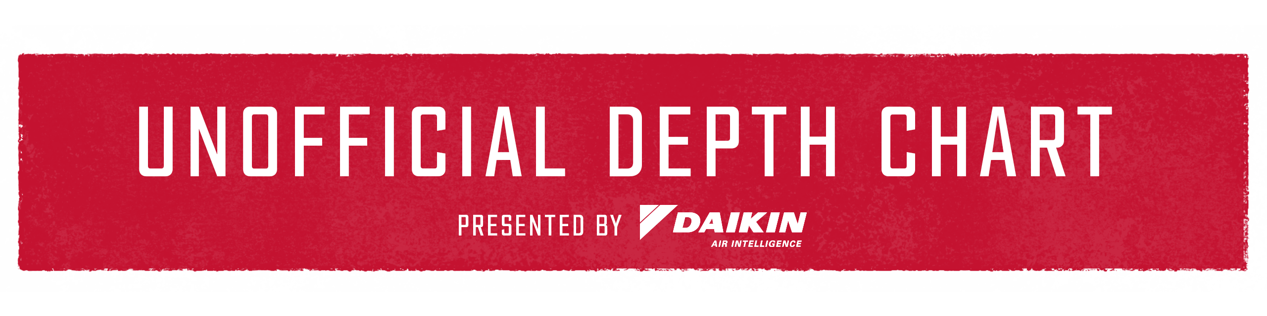 Unofficial Depth Chart presented by Daikin