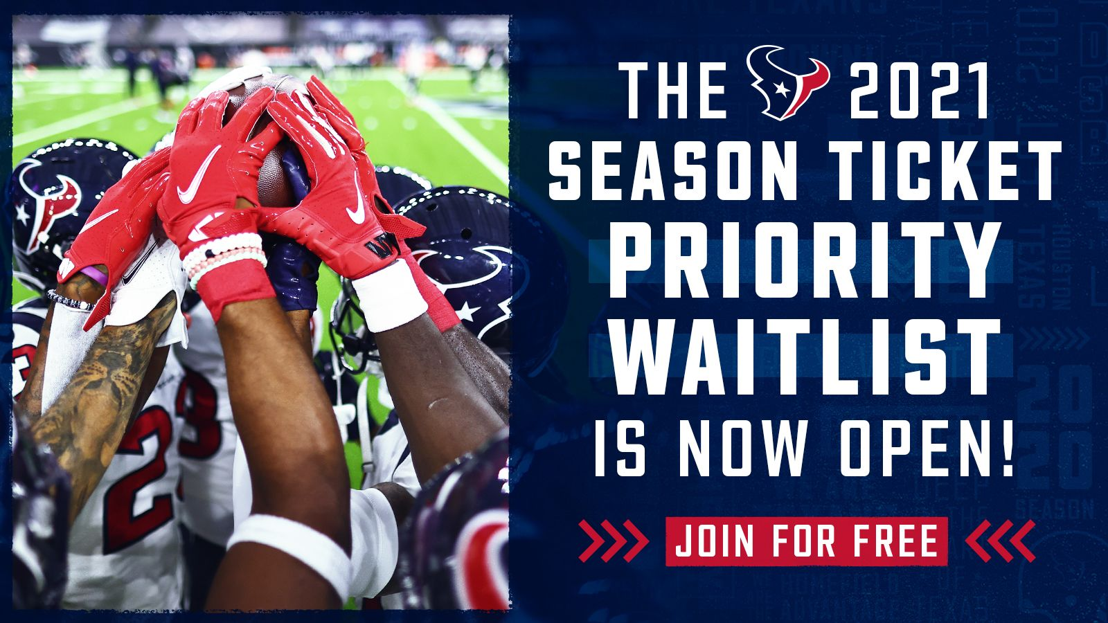 The 2021 Season Ticket Priority Waitlist is now open. Join for Free!