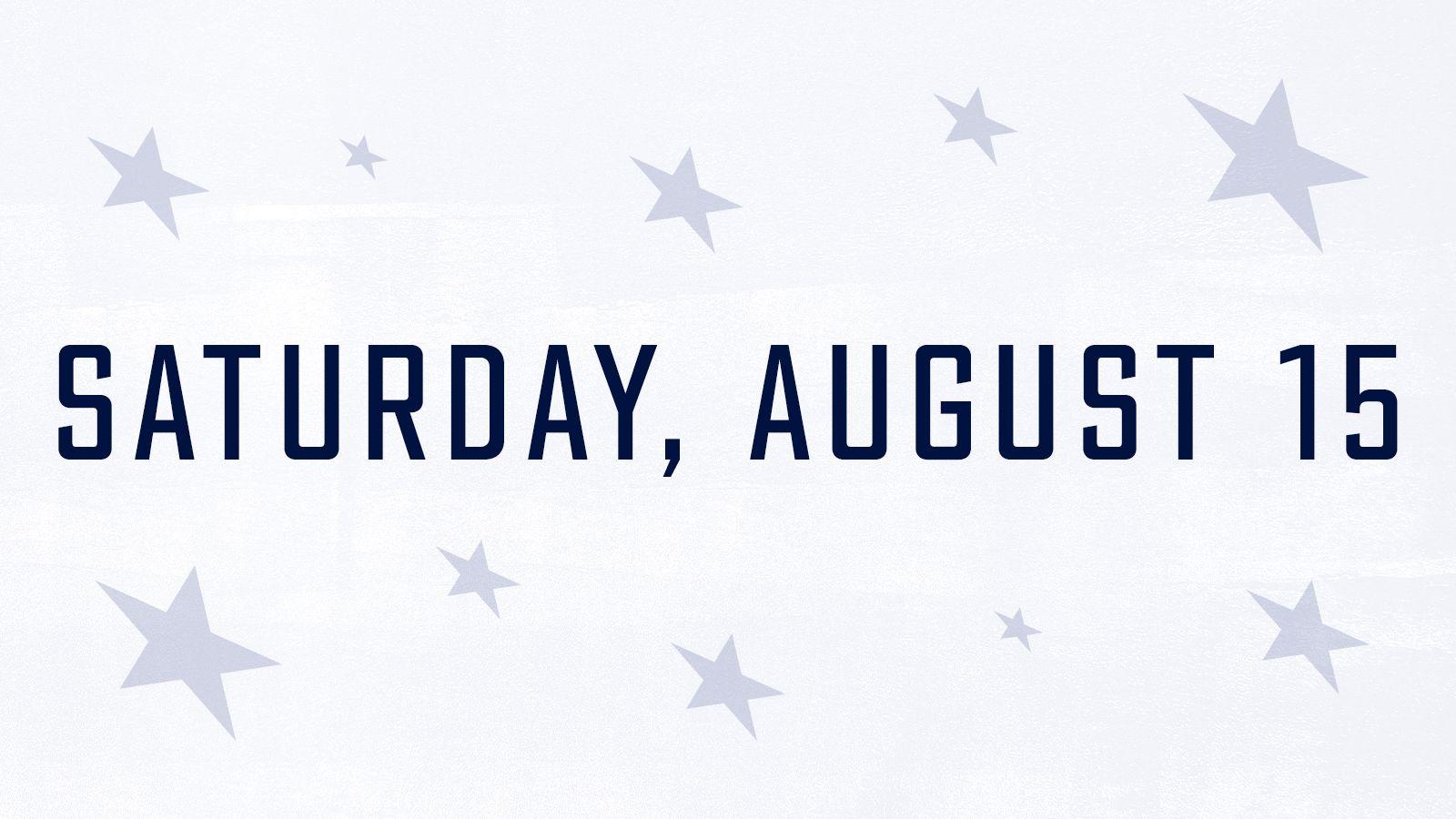 Saturday, August 15