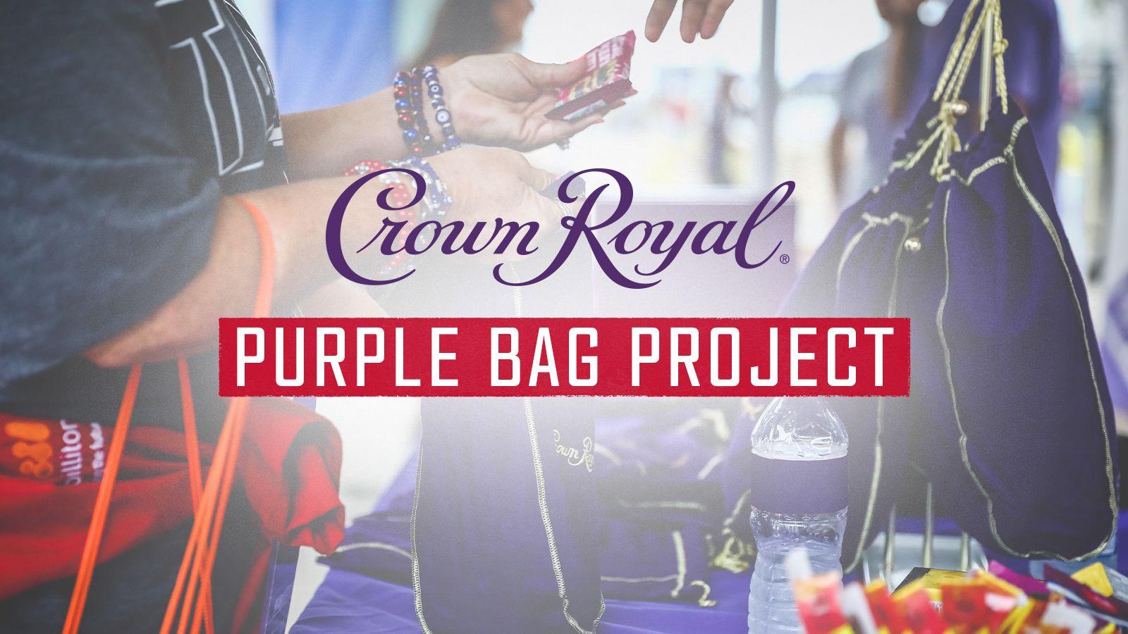 Crown Royal Purple Bag Project