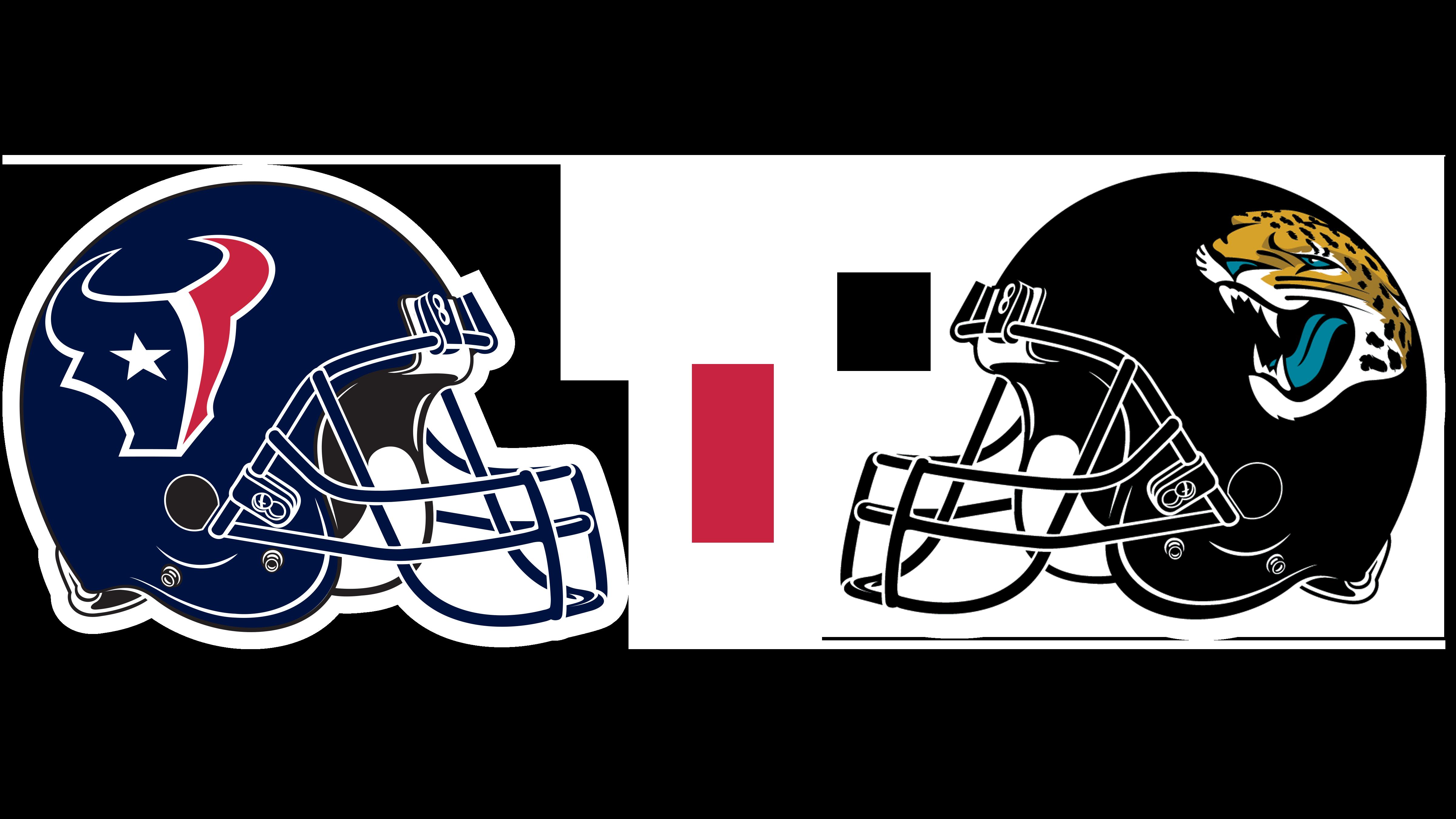 Houston Texans helmet and Jacksonville Jaguars helmet