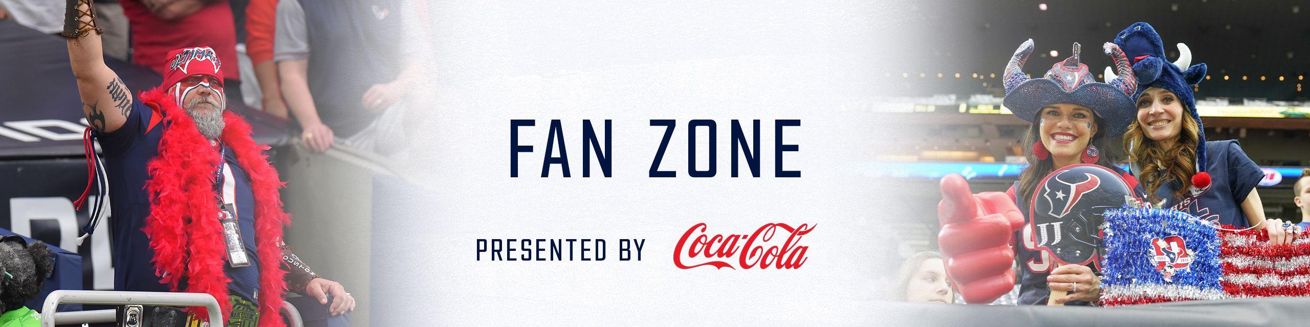 Fan Zone. presented by Coca-Cola
