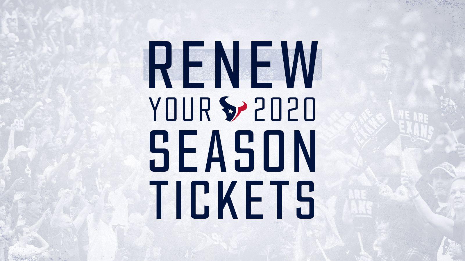 Renew your 2020 Season Tickets