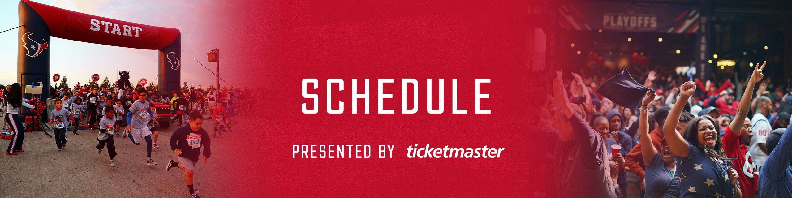 Schedule presented by Ticketmaster
