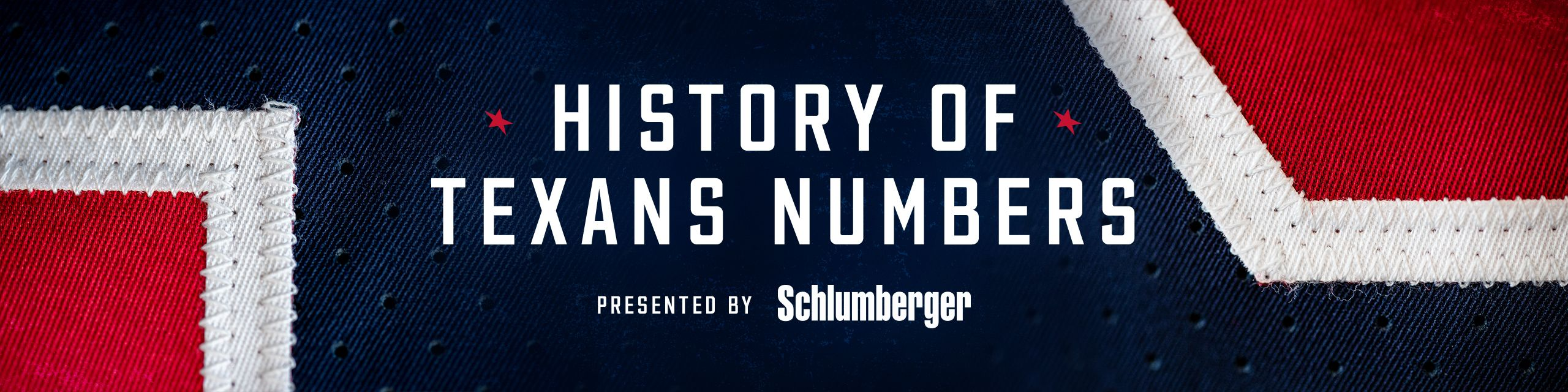 History of Texans Numbers presented by Schlumberger