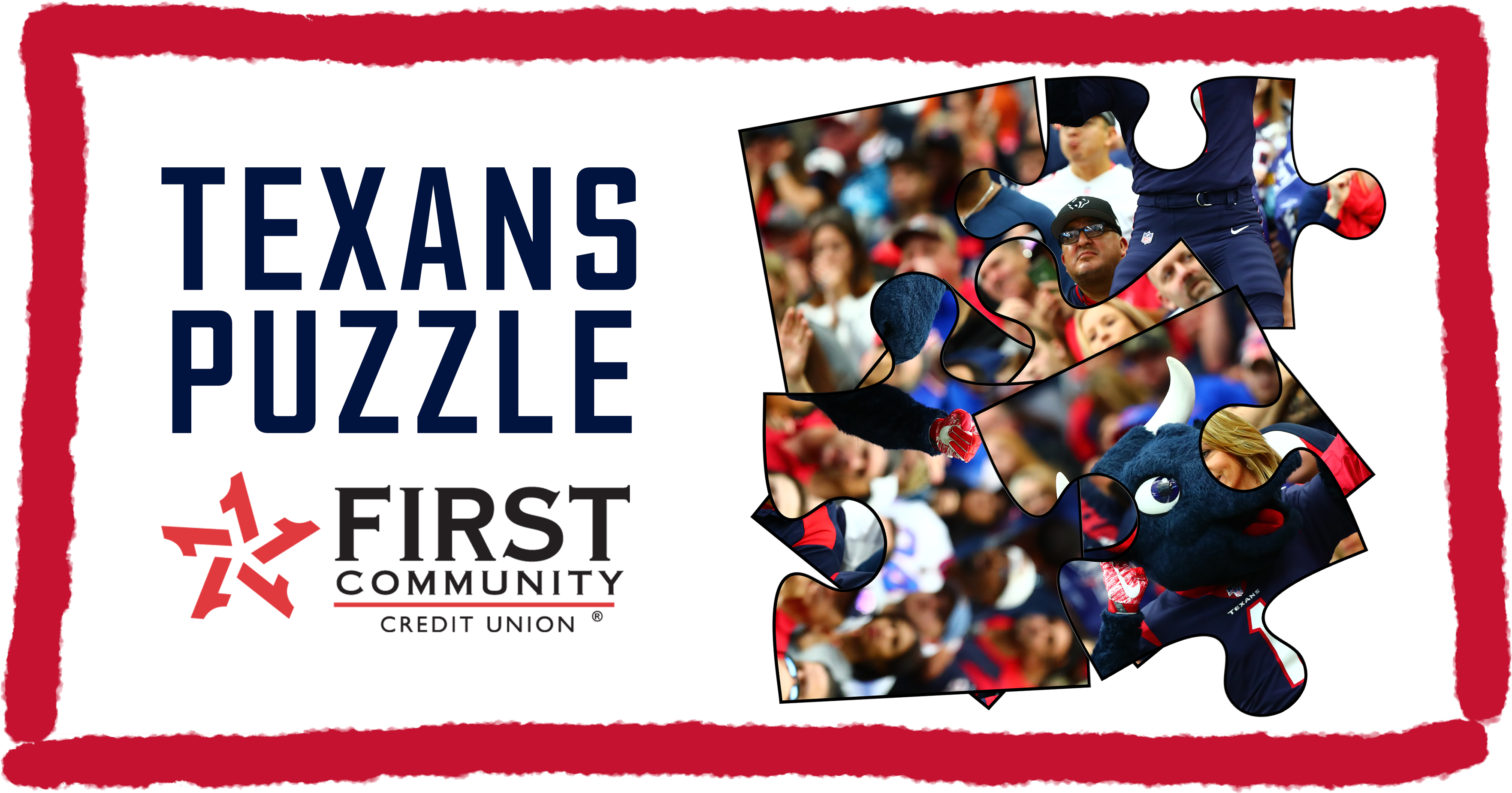 Texans Puzzle presented by First Community Credit Union