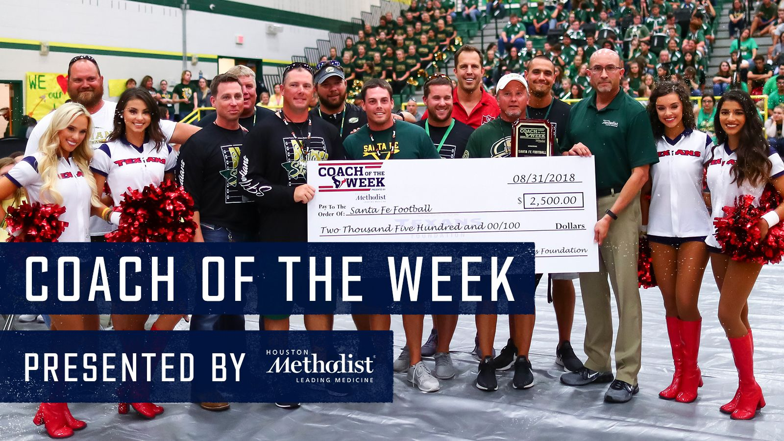 Coach of the Week presented by Houston Methodist