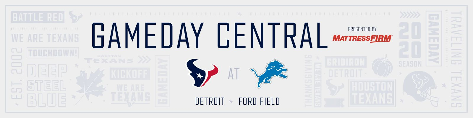 Gameday Central presented by Mattress Firm