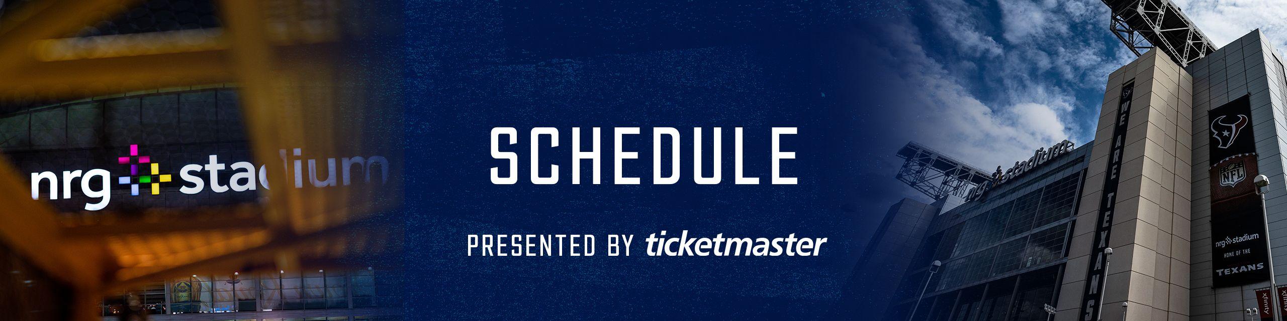 Schedule presented by Ticketmaster