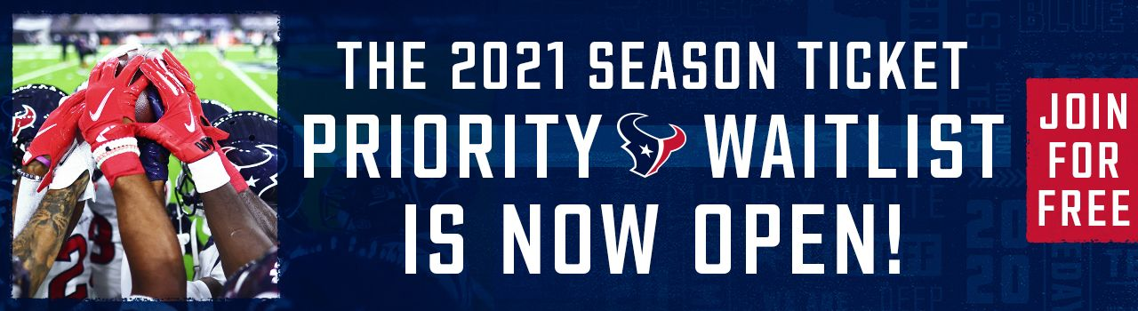 The 2021 Season Ticket Priority Waitlist is now open! Join for free!