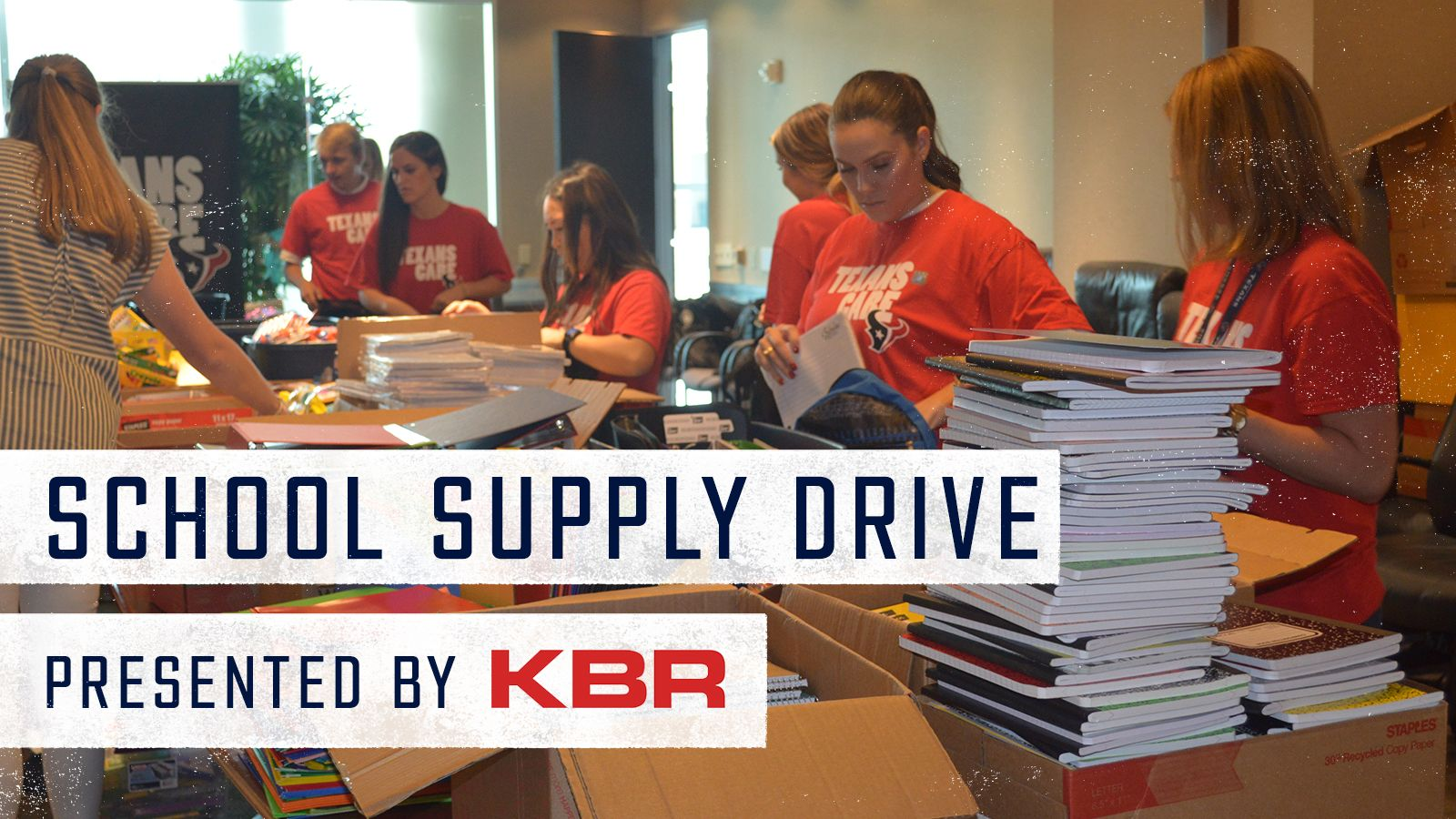School Supply Drive. Presented by KBR