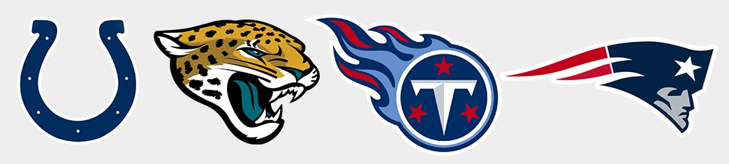 Colts. Jaguars. Titans. Patriots.