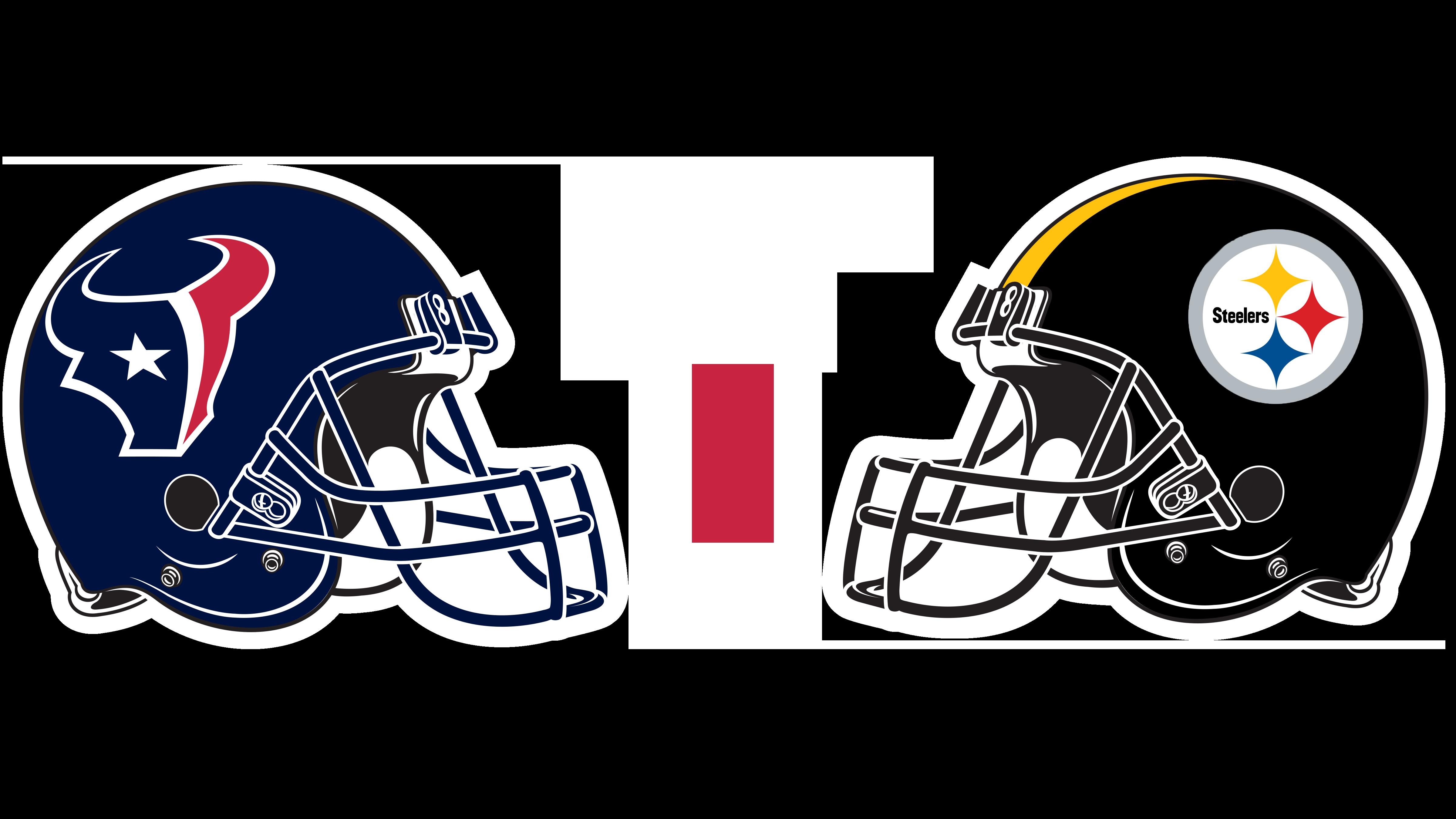 Houston Texans helmet and Pittsburgh Steelers helmet