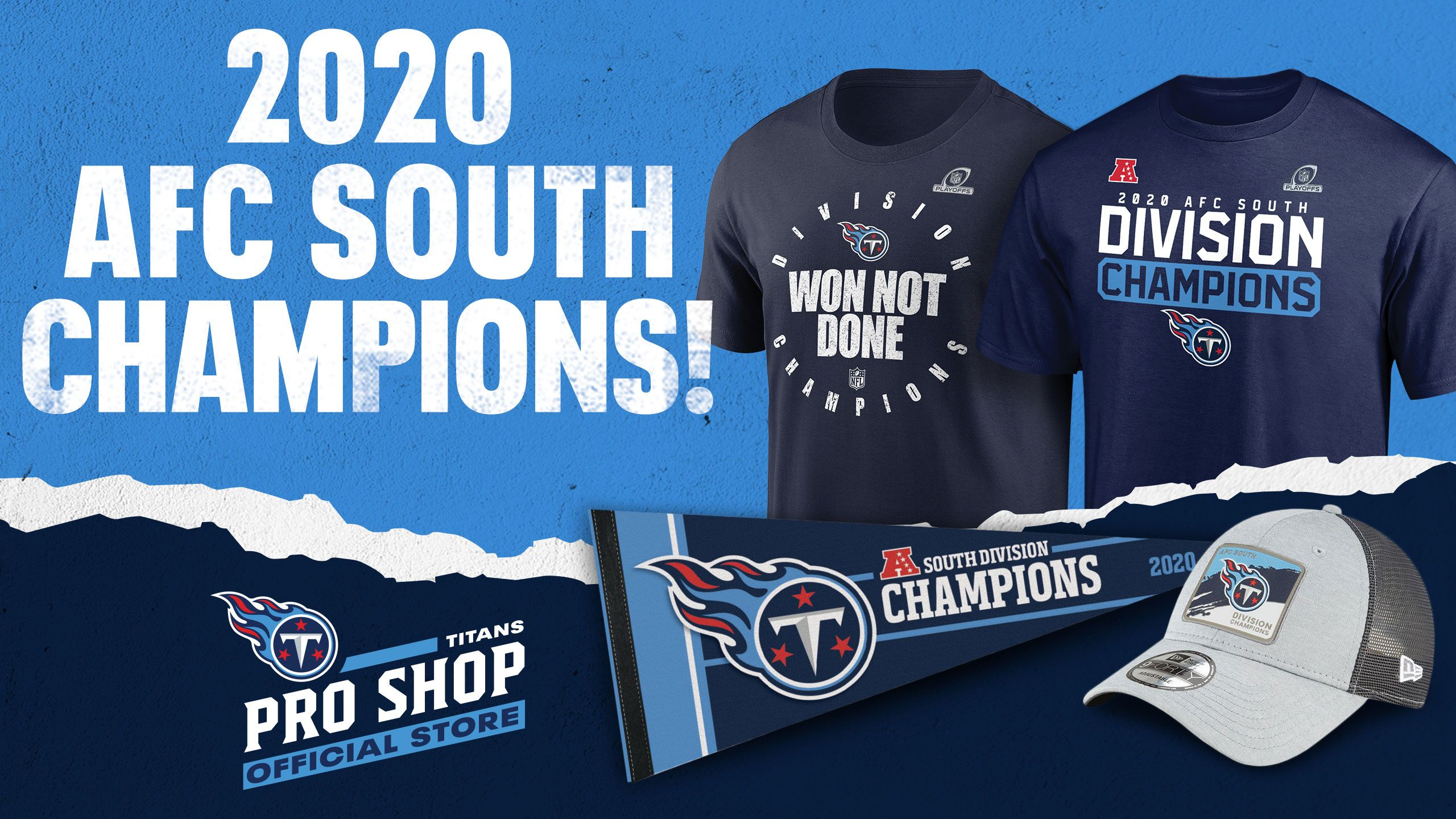 Shop AFC South Championship Gear