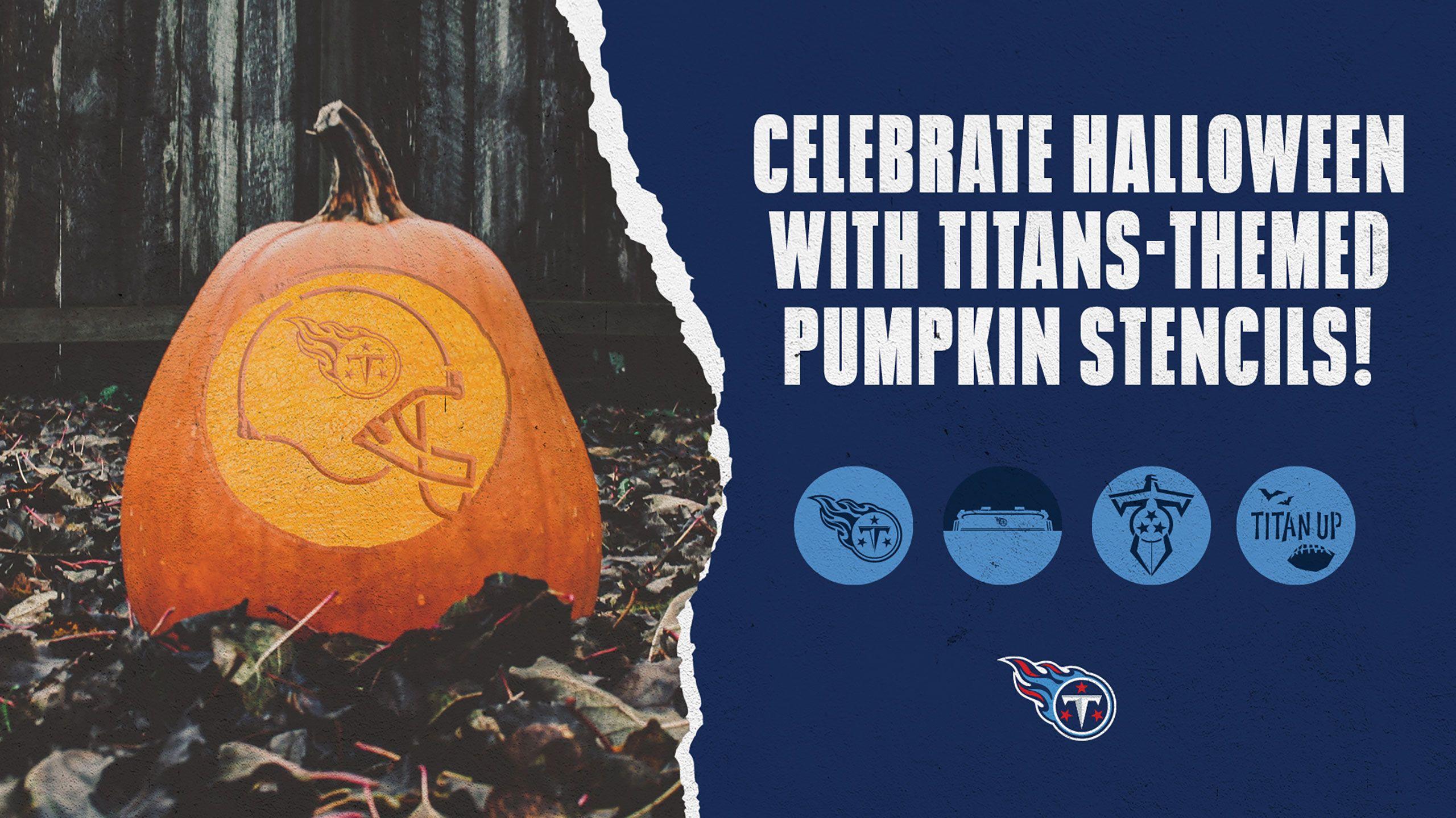 Titans Pumpkin Carving Templates