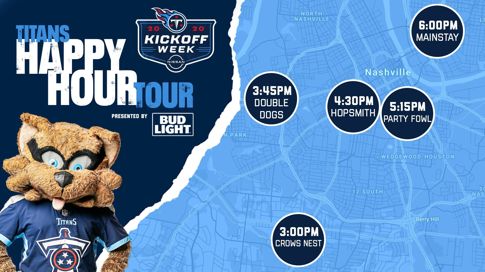 TITANS HAPPY HOUR TOUR presented by BUD LIGHT