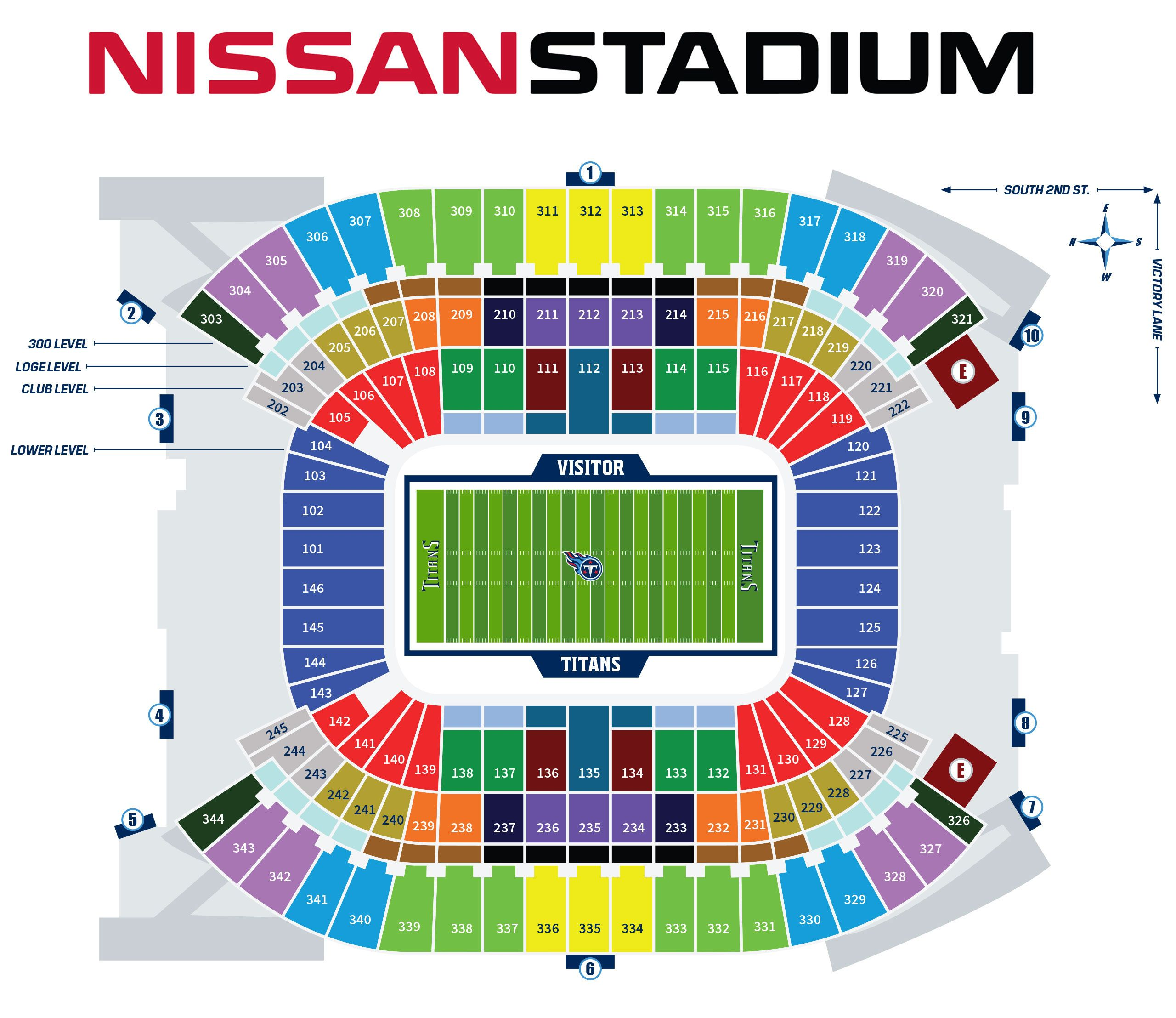 Nissan Stadium Seating Guide