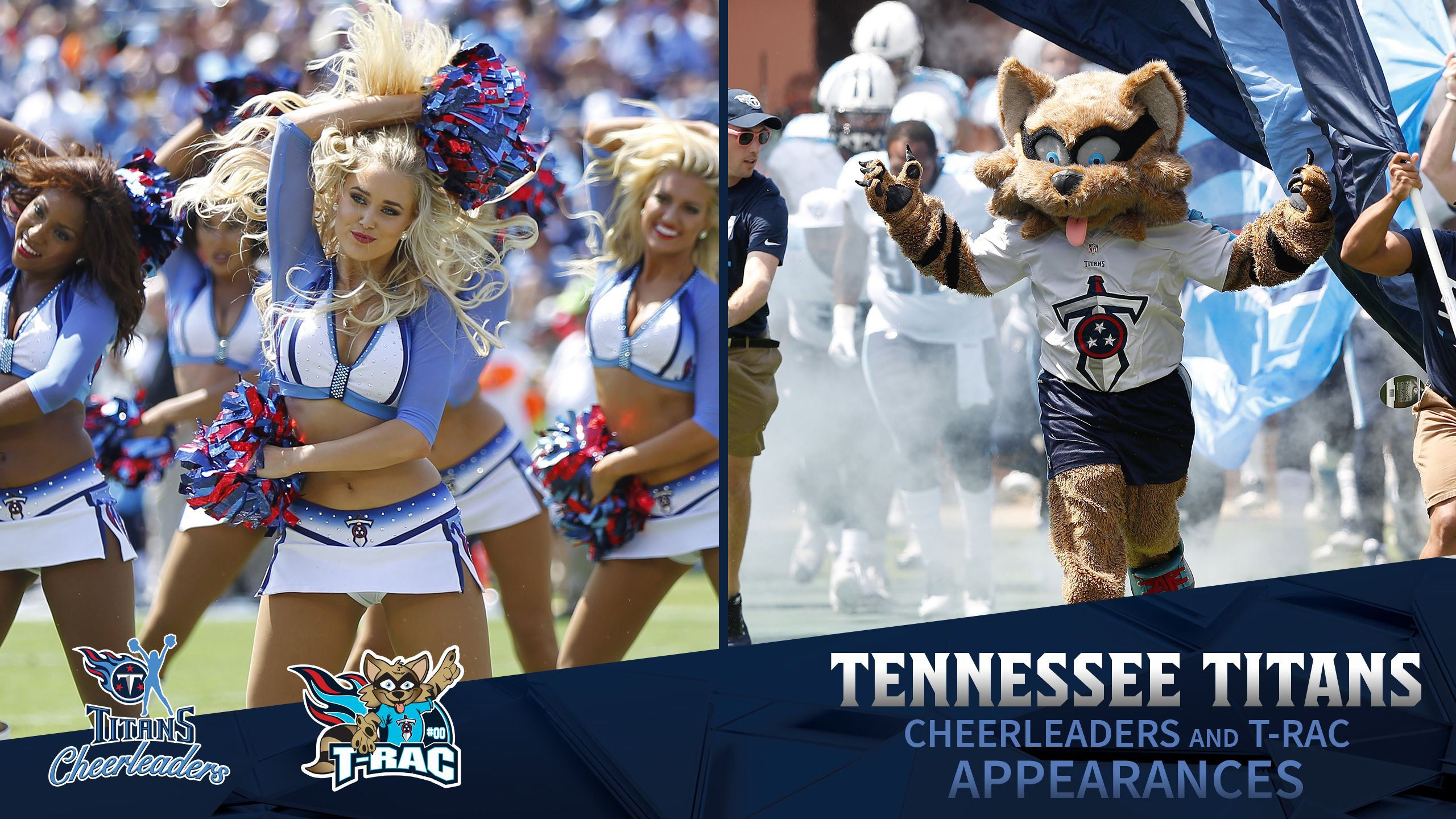 Tennessee Titans Cheerleaders and T-Rac Appearances Payment