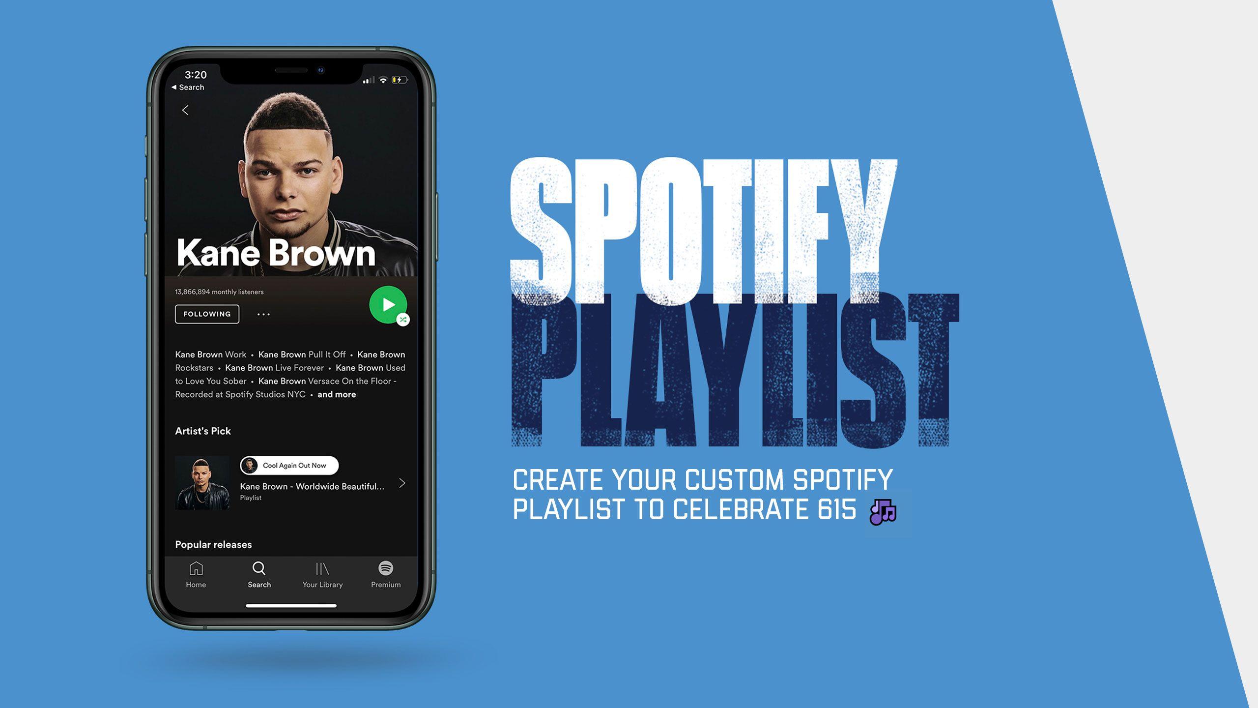 Create Your Celebrate 615 Spotify Playlist