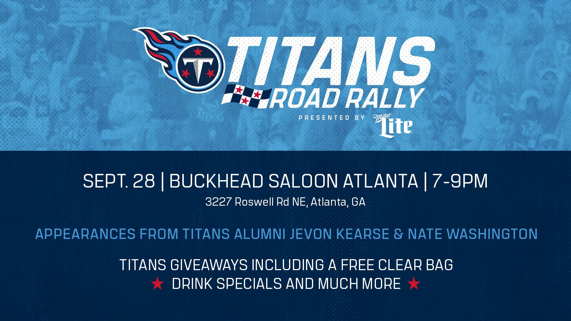 2019 Tennessee Titans ATL Road Rally