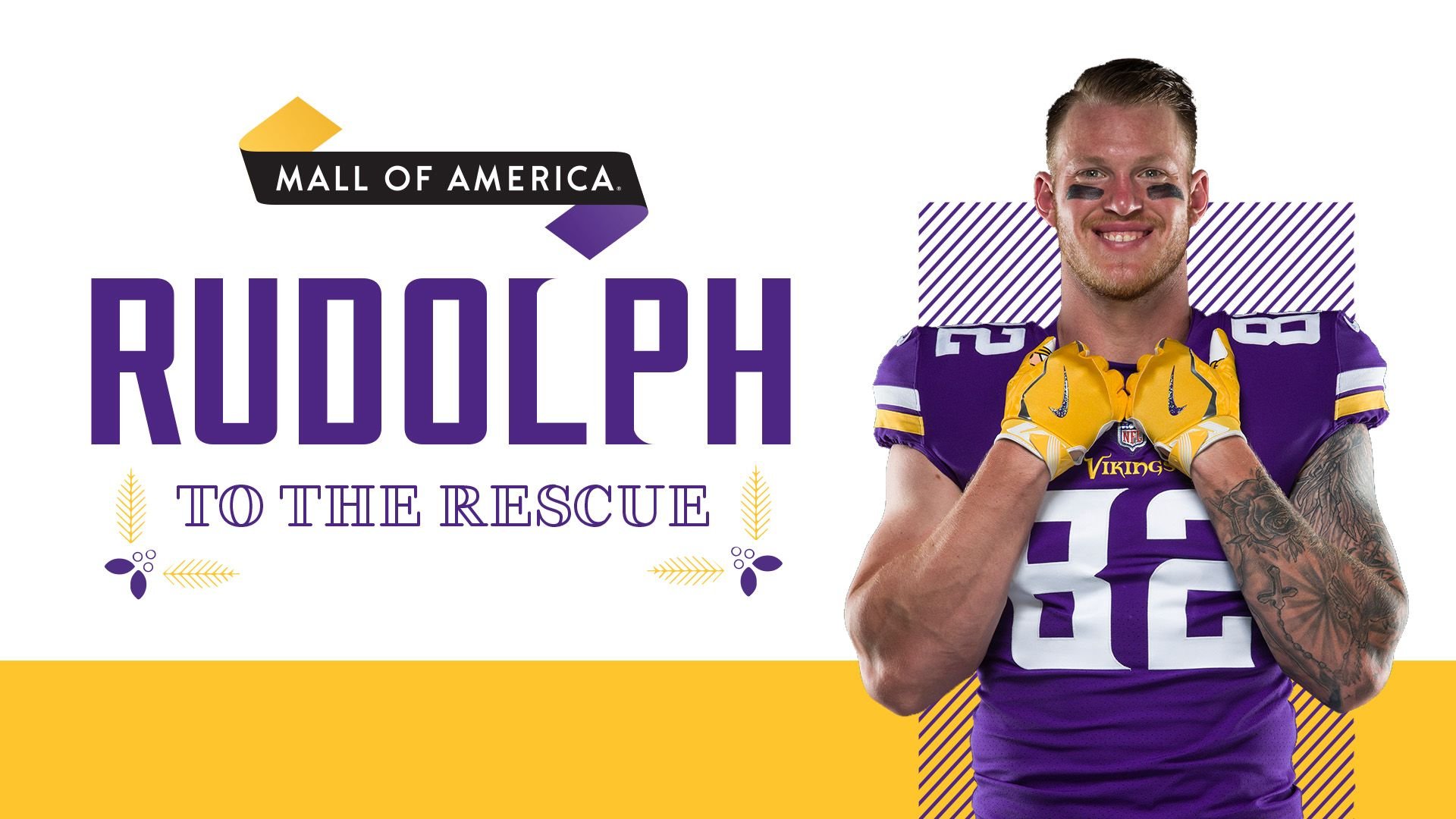 Enter to win a $1,000 MOA® holiday shopping spree with Kyle Rudolph!