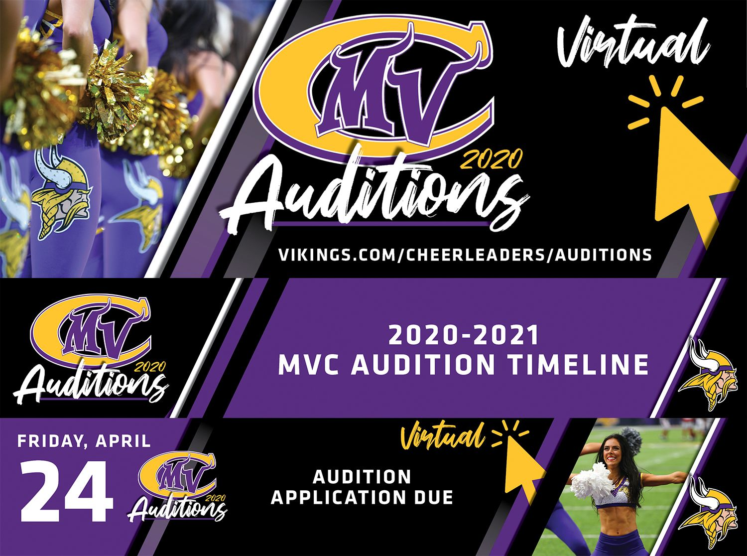 Friday, April 24th | Virtual Audition Applications Due