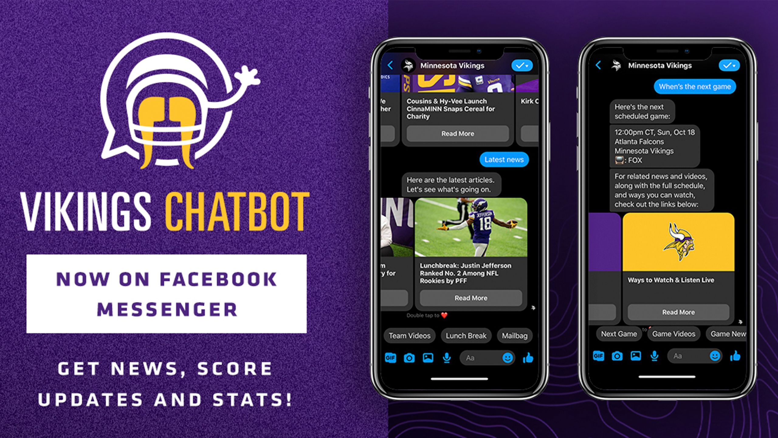 Check Out The Vikings Chatbot on Facebook Messenger