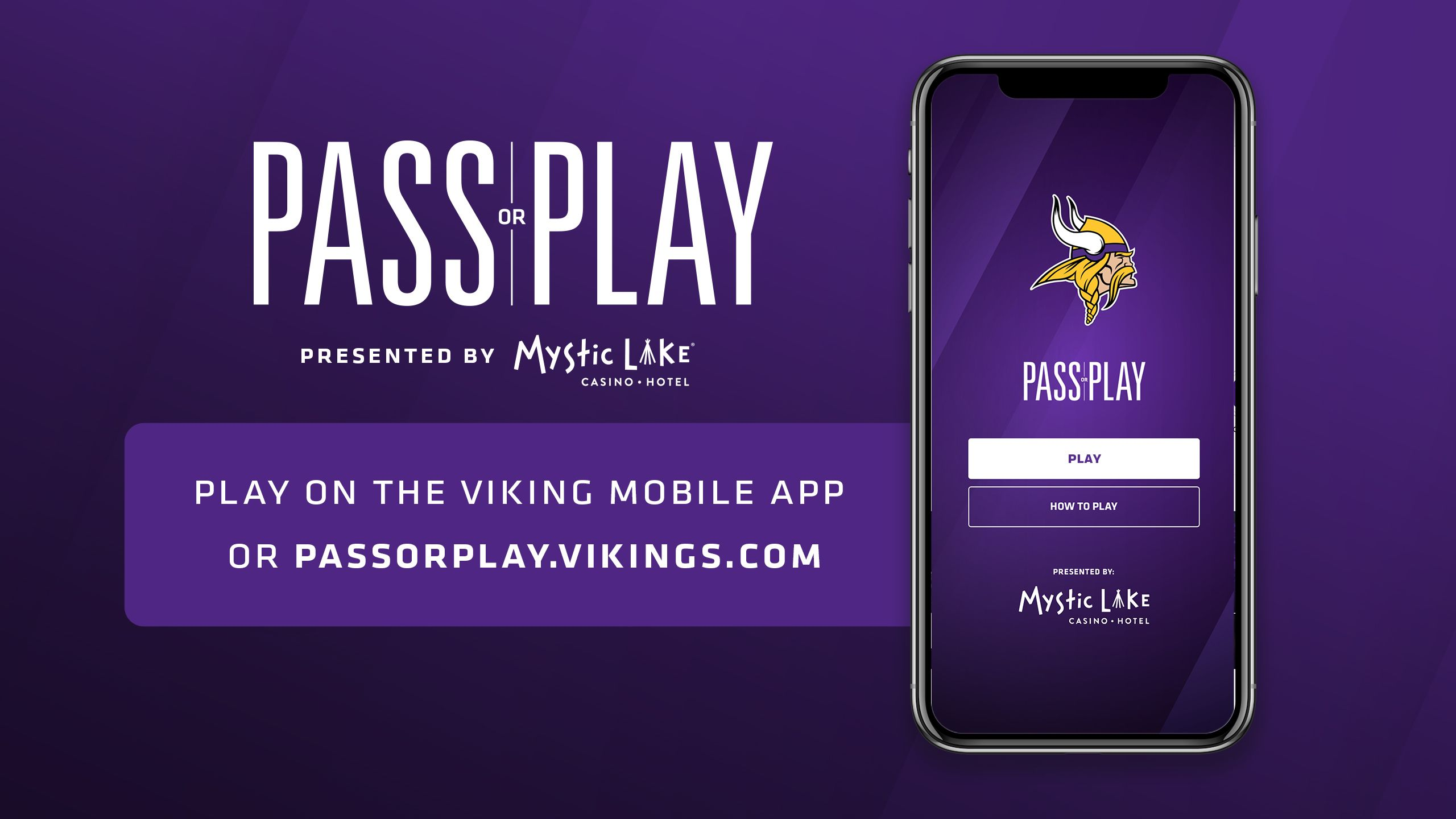 Check Out 'Pass or Play' Online or Via The Vikings App