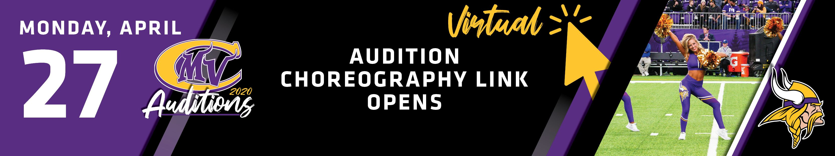 Monday, April 27th | Virtual Audition Choreography Link