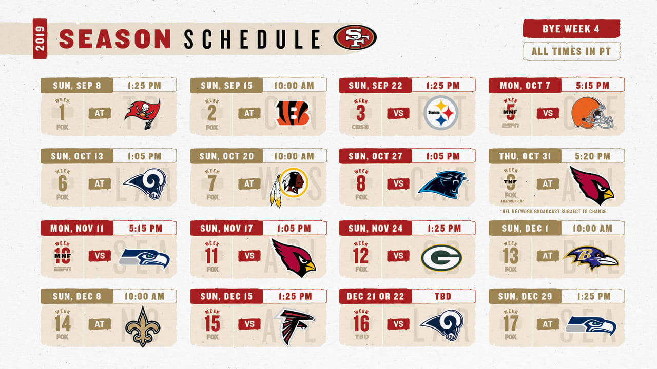 Game by game notes of the 49ers 2019 regular season schedule - 2015 49ers schedule wallpaper ...