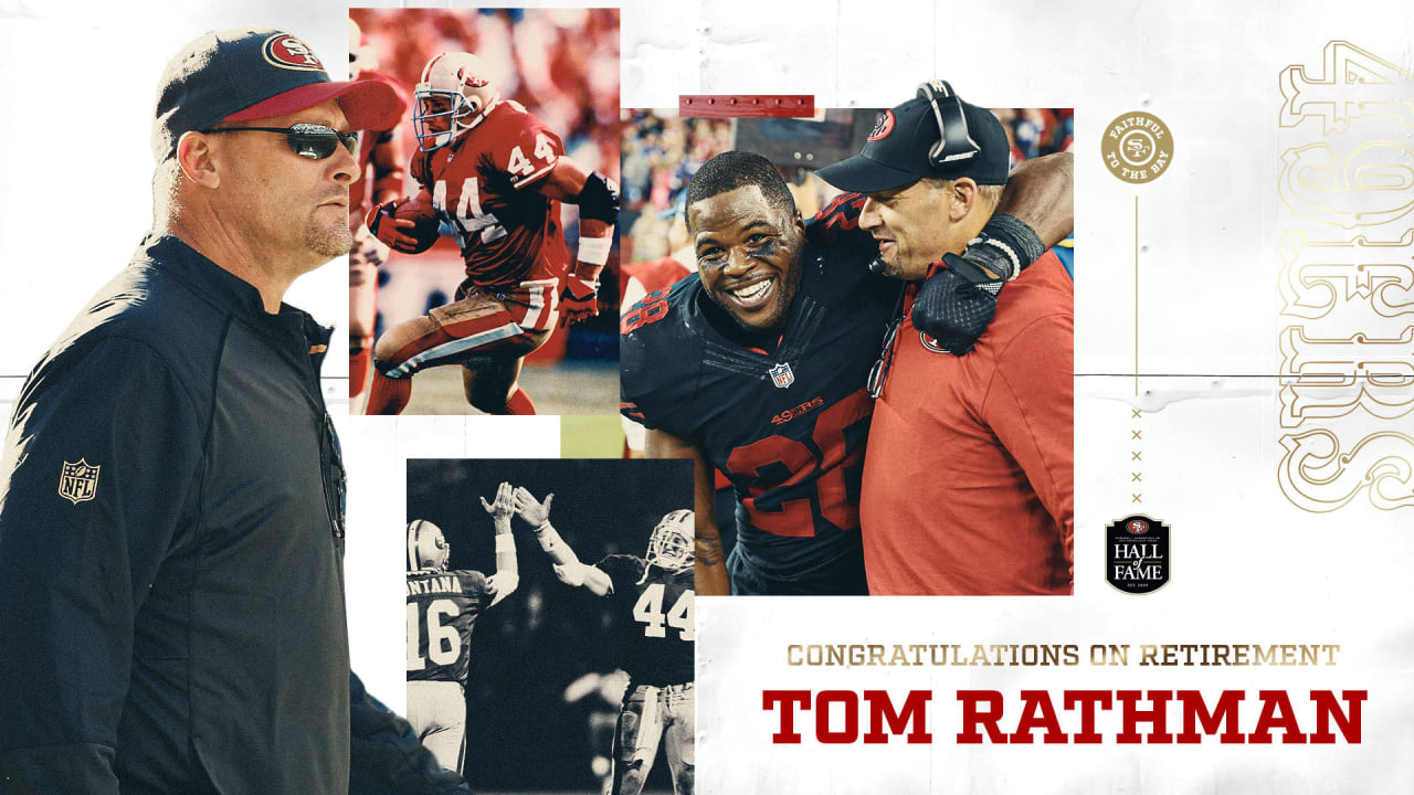 Statements from the 49ers on Tom Rathman's Retirement