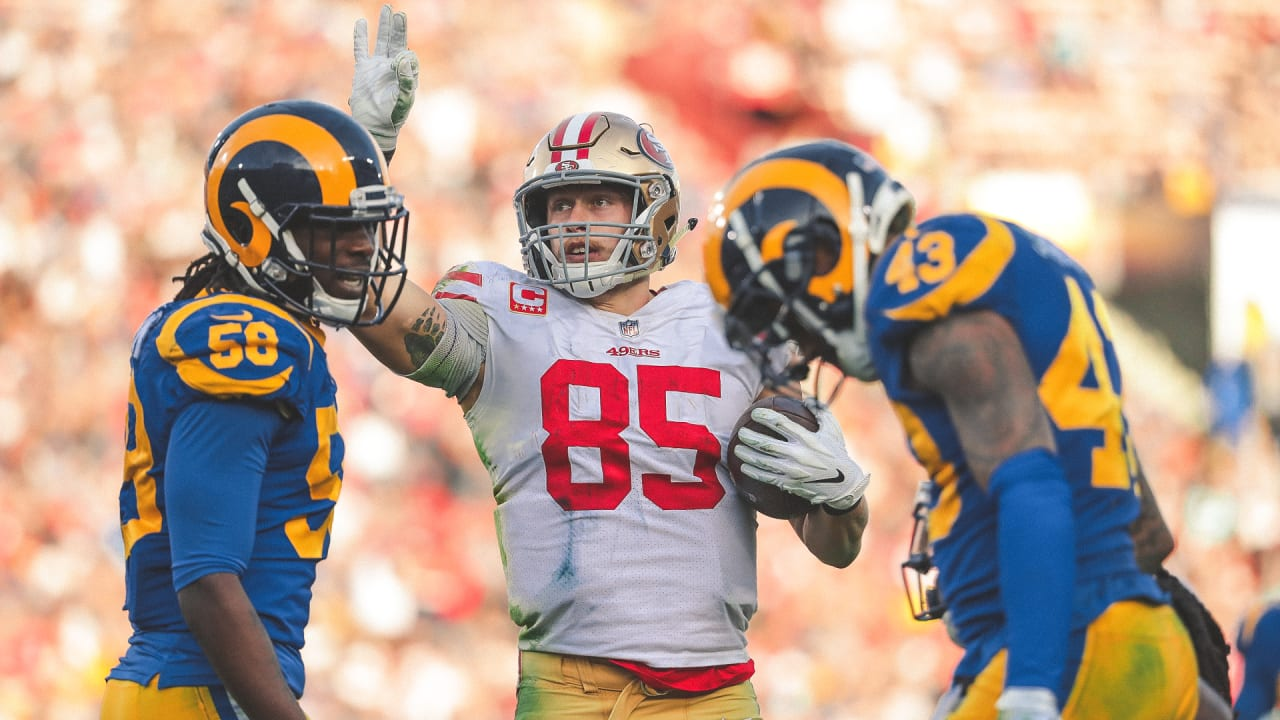 91ffaadfd0d George Kittle Sets Franchise Record for Catches in a Single Season by a  Tight End