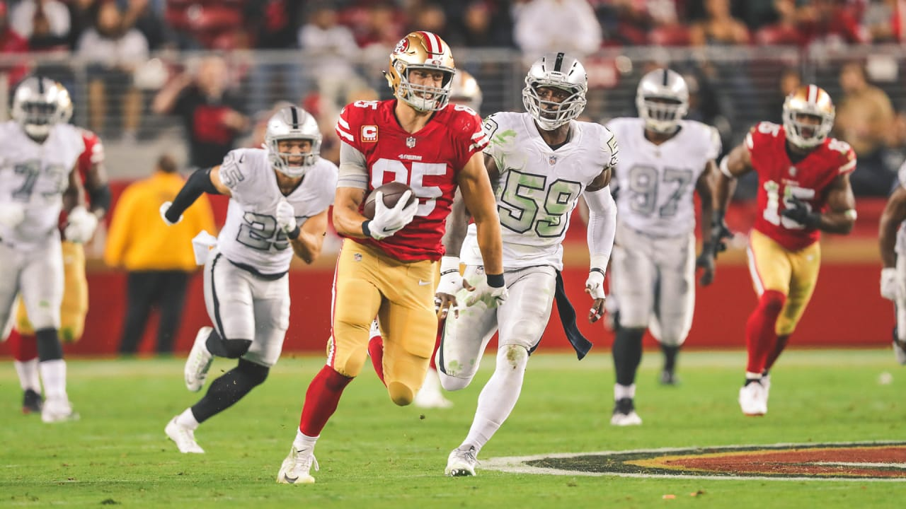0f05ee05aa6 Can t Miss  George Kittle Turns One-handed Grab into a 71-yard Gain