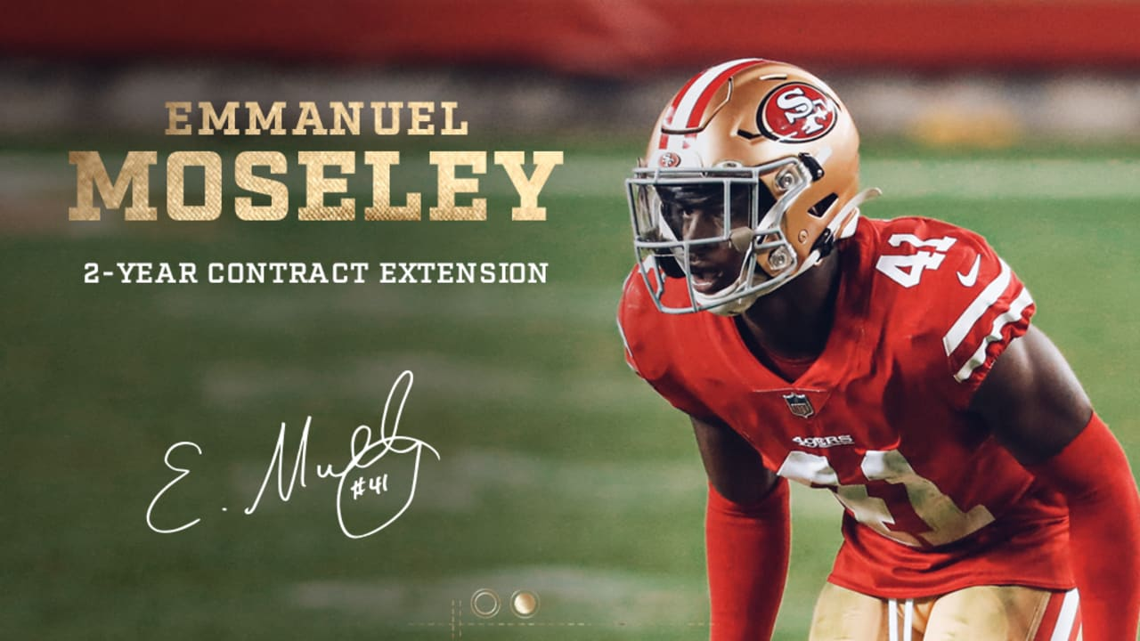49ers Sign Emmanuel Moseley to Two-Year Extension