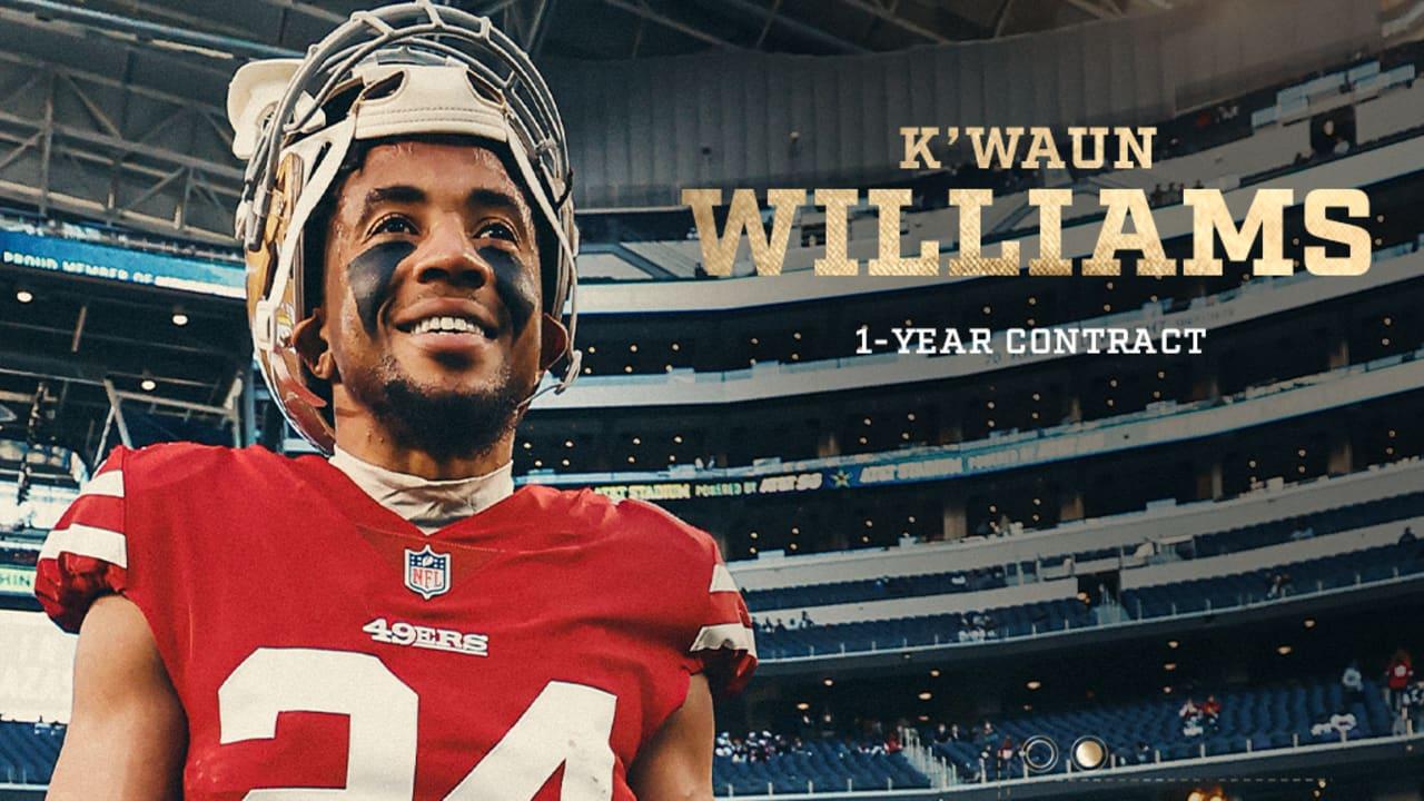 49ers Re-sign CB K'Waun Williams - 49ers.com