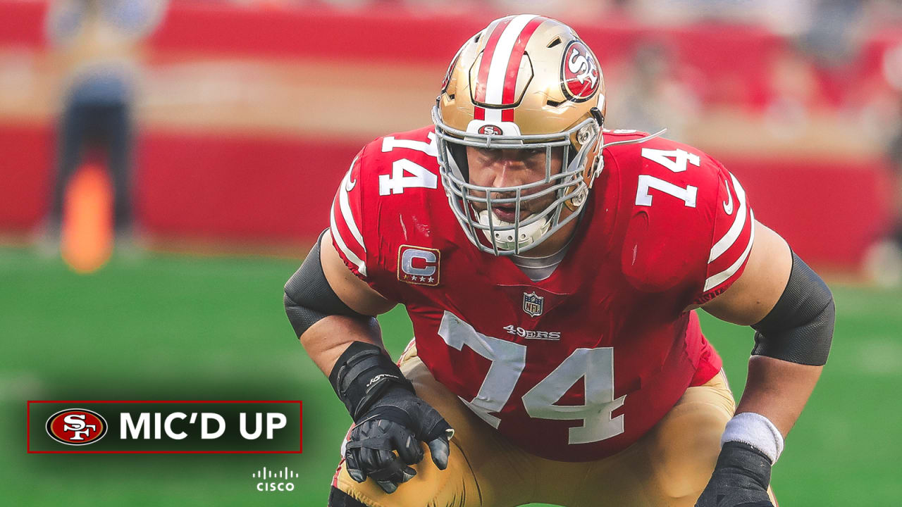 2ed0b6ac63a Mic d Up  Joe Staley Goes to Battle against Chicago s Defense