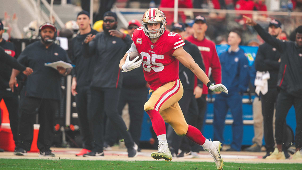 George Kittle Explodes For An 85 Yard Touchdown Tops 1 000