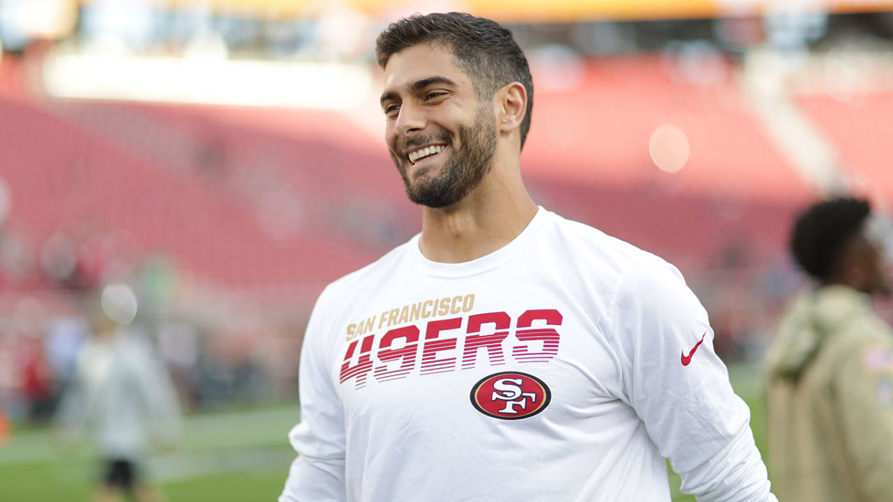 Jimmy Garoppolo Reaching Out to Trey Lance 'Speaks to His Class'