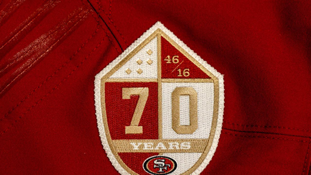 49ers Unveil Commemorative Logo To Kickoff 70th Anniversary Celebration