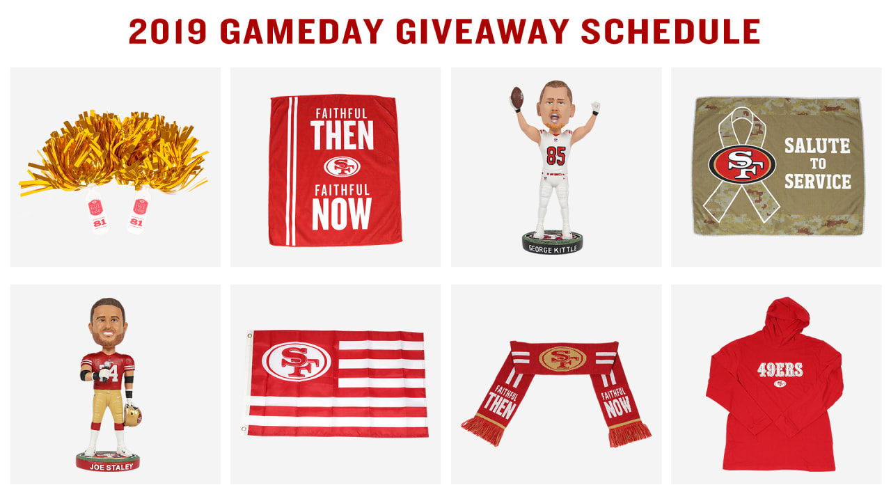 49ERS GAME DAY GIVEAWAYS 2019