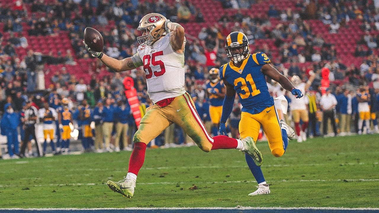 db02841b5aa George Kittle Breaks the NFL s Single-season Yardage Record by a Tight End  on a 43-yard Touchdown