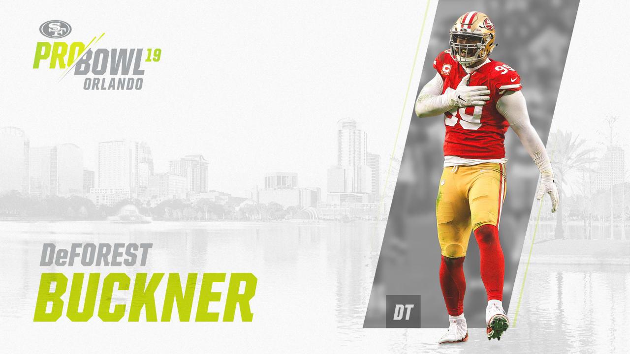 timeless design 4bed1 fd0d8 49ers DL DeForest Buckner Named to 2019 Pro Bowl