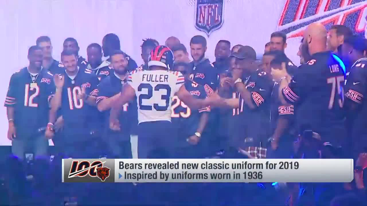 detailed look 953ee 52789 Bears reveal classic uniforms for NFL 100