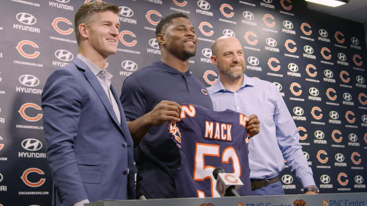 new product b1d2f 44846 Khalil Mack's first day as a Chicago Bear