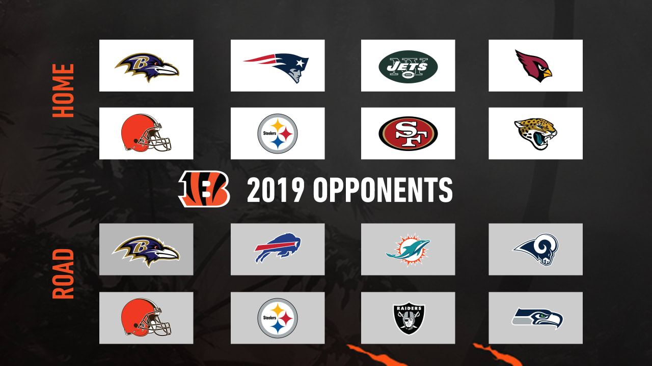 Calendrier Nfl 2020 2019.Bengals 2019 Opponents Set
