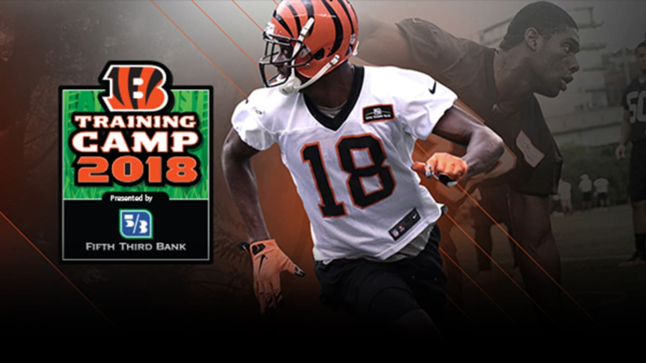 42c36f43 Bengals 2018 Training Camp Opens Thursday, July 26